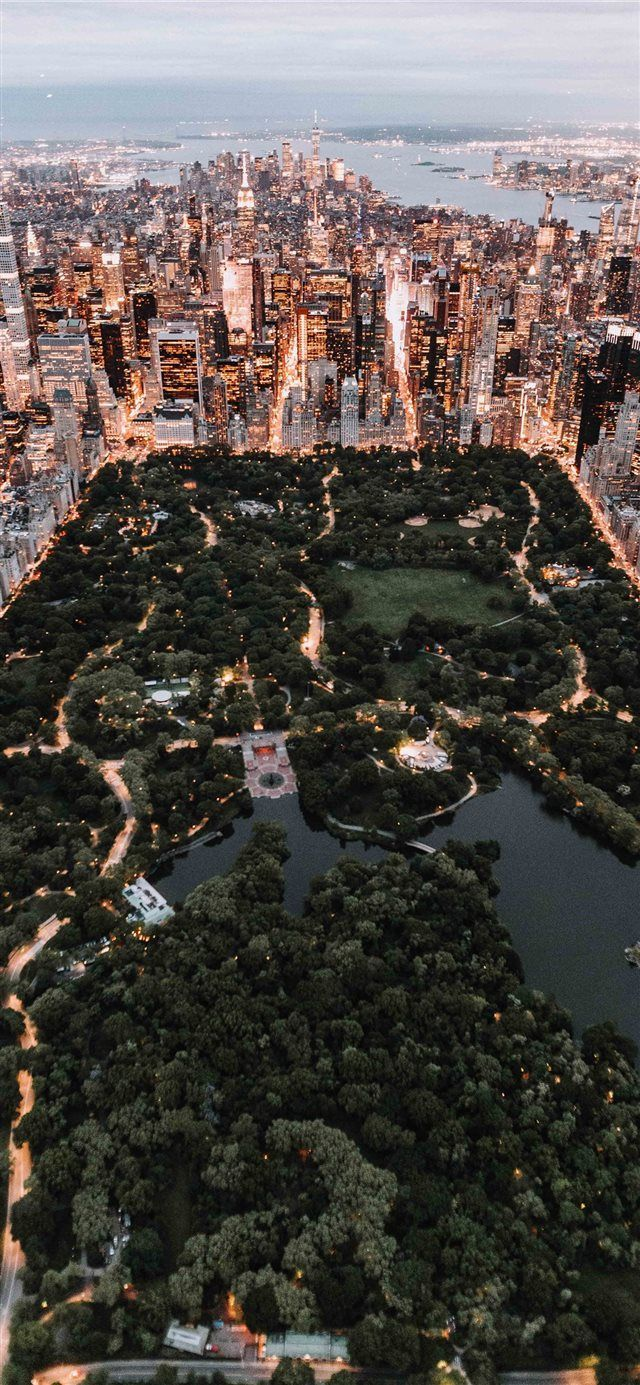 Central Park from above New York City iPhone X wal…