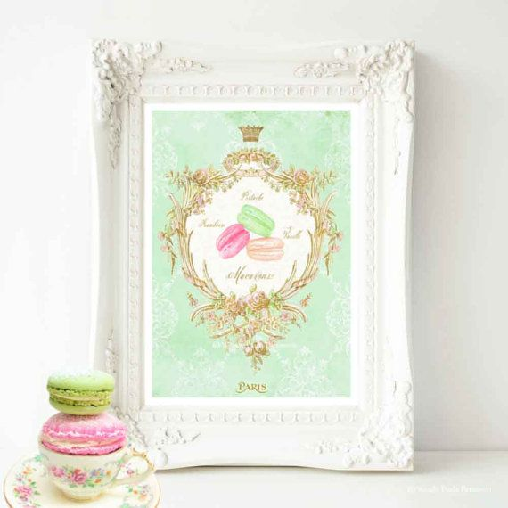 Macaron watercolor illustration print by MulberryslittleMuse