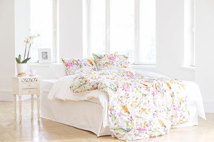 LINTU-lakanoissa ei voi nähdä kuin kauniita unia. #lennol #spring #bedsheet #bird #flower