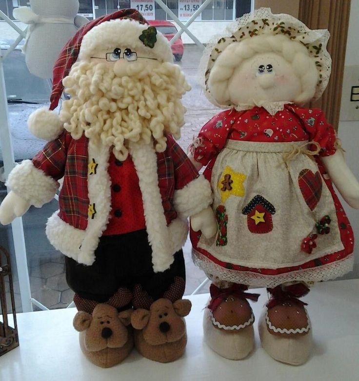 Casal Papai e Mamãe Noel