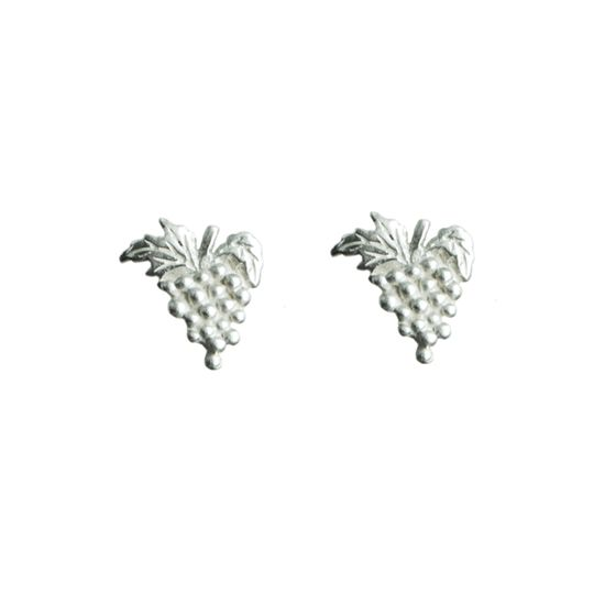 Sweet grapes - sterling silver stud earrings | my-precious.com