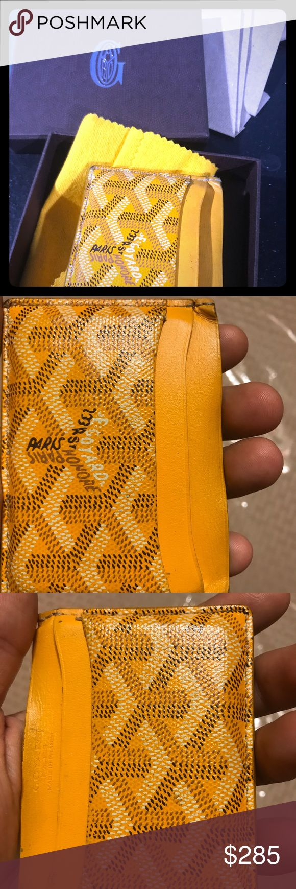 100% authentic used goyard wallet card holder.8/10 8/10 condition. Used for 2 months. Got a new one as a birthday gift so i am selling this one. Comes with original box & dustbag. Looking for $250 but will negotiate . Goes for way more on eBay. Wallet is in  GREAT CONDITION & Has a lot of life left in it! Message me for more pictures or details goyard Accessories Key & Card Holders