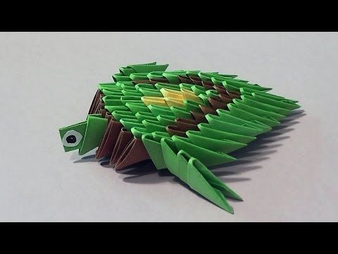 How to make a turtle 3D origami (modular origami) for beginners - YouTube