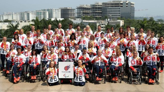 Paralympics GB athletes show off their medals in Rio