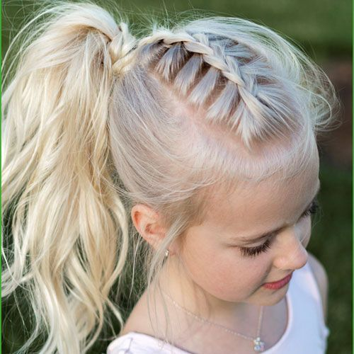 Braided Hairstyles For Little Girls French Braid Ponytail Easy And Cute Litt French Braid Ponytail Braided Hairstyles Easy Little Girls Ponytail Hairstyles