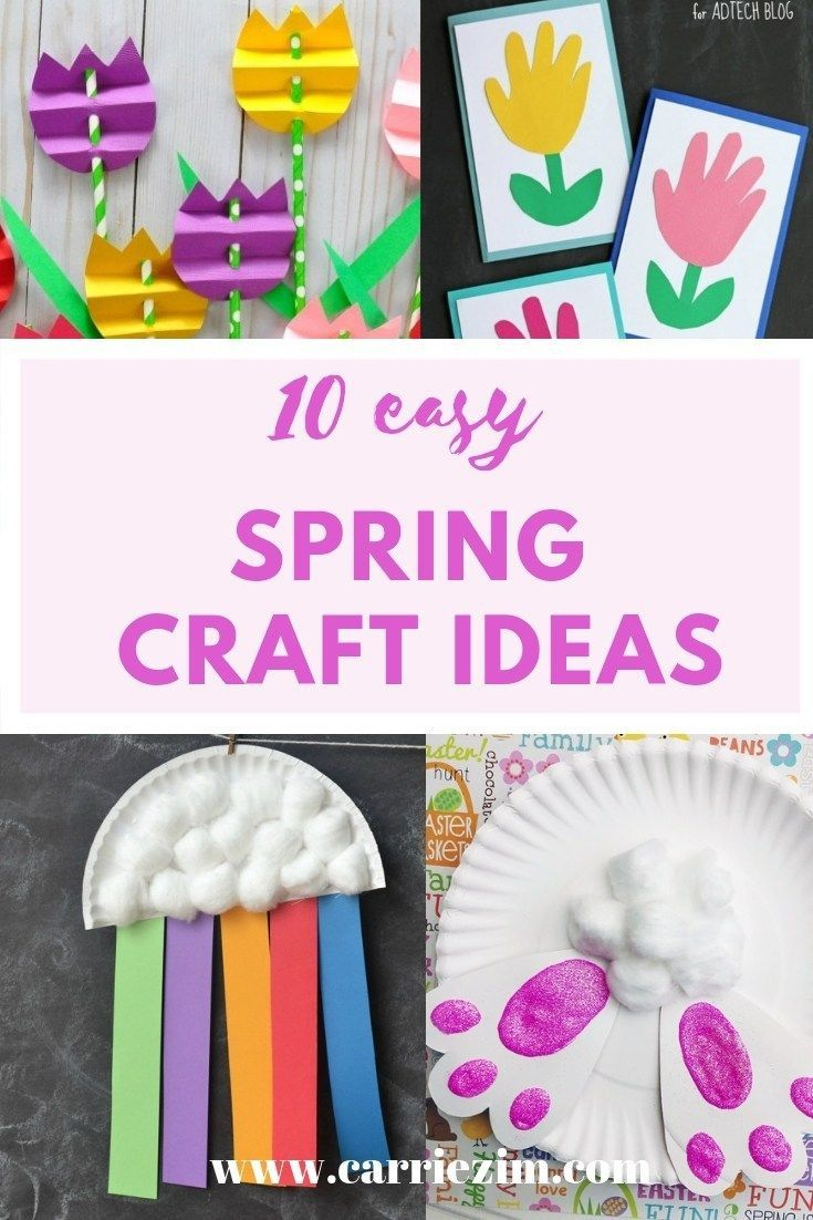 Spring Craft Ideas For Kids And Preschoolers Craft Ideas Crafts Spring Crafts Arts And Crafts For Kids