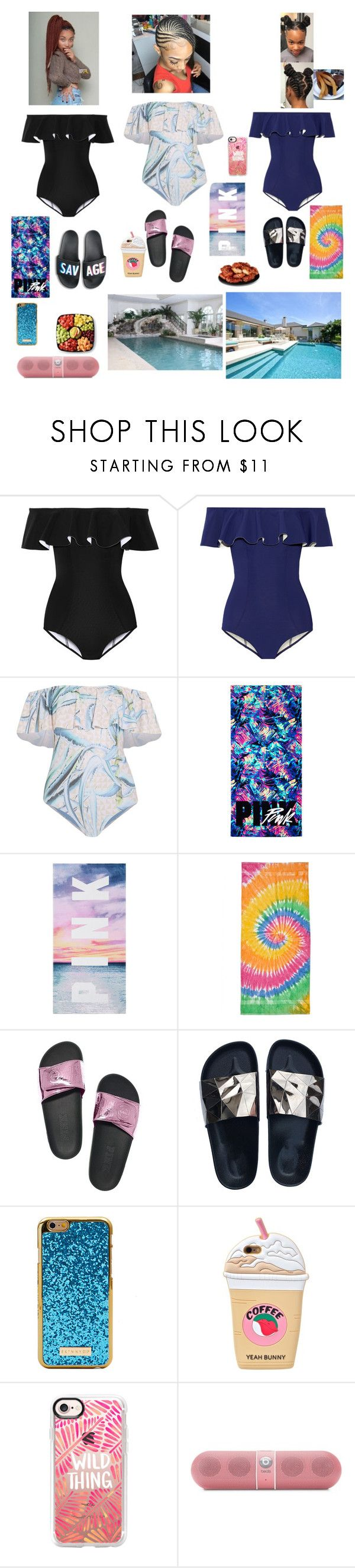 """Splash party 💦🌊{JANIAH,MAKAYLA,PARIS}"" by aleciadowdemll ❤ liked on Polyvore featuring beauty, Lisa Marie Fernandez, Mara Hoffman, Colortone, Victoria's Secret, KEEP ME, Yeah Bunny, Casetify and Beats by Dr. Dre"