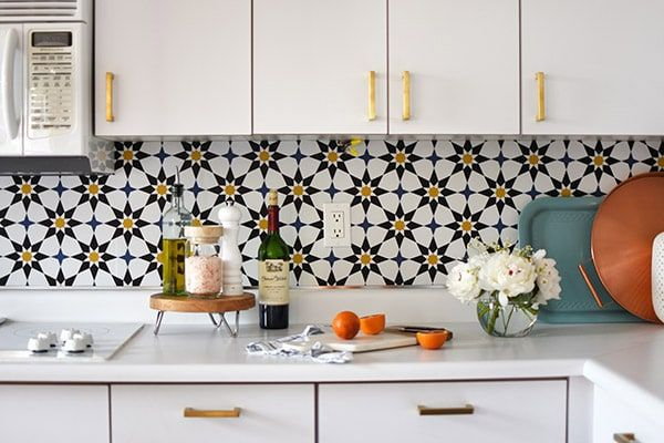 How To Install A Removable Wallpaper Backsplash Before After