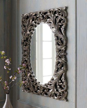 Silver Baroque Mirror at Horchow.