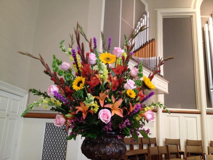 Church Alter Flower Arrangement by www.darlingflowers.net