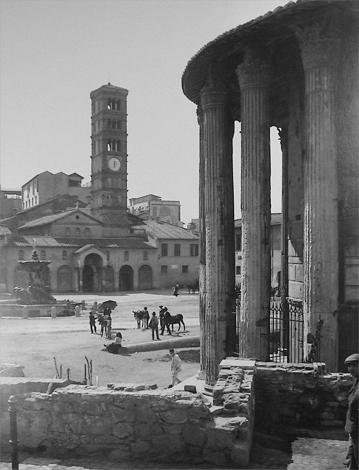 Rome, Piazza Bocca della Verità - Foro Boario, 1890