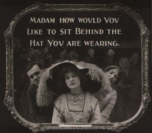 Movie etiquette PSA, 1910s era