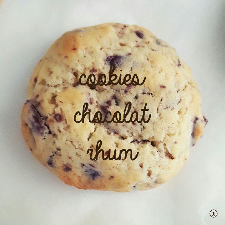 Fiche recette des cookies aux pépites de chocolat et au rhum à télécharger en PDF  #cookies #chocolate #rhum #recipe #recette #food #pastry #patisserie #homemade #faitmaison #blog #alinaerium
