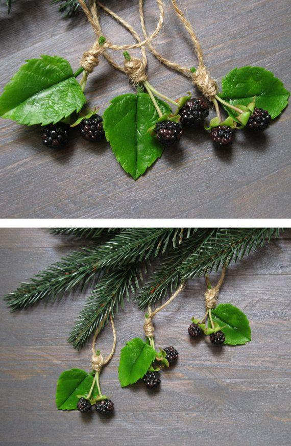 Woodland Christmas ornaments Rustic Christmas by MetallyFlower