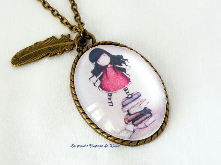 Collar camafeo Muñeca Gorjuss REF.105 de La Tienda Vintage de Kima por DaWanda.com