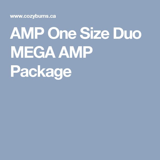 AMP One Size Duo MEGA AMP Package