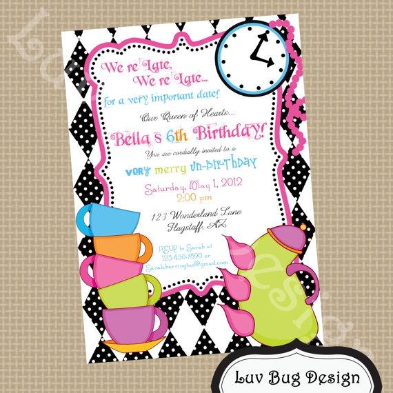 46 best BD Alice In Wonderland Invite images on Pinterest