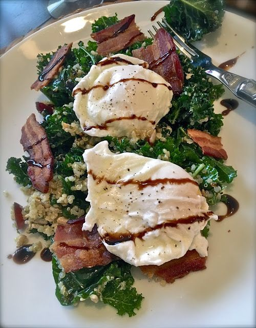 The Bee Cave Kitchen         : Poached Egg & Kale Salad