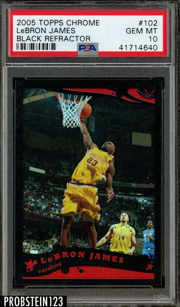 2005 06 Topps Chrome Black Refractor Lebron James Cavaliers 51399