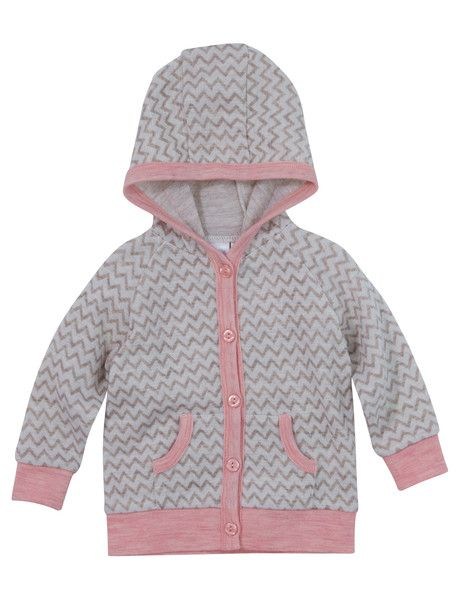 Teeny Weeny Merino Merino Wool Hooded Chevron Cardigan product photo