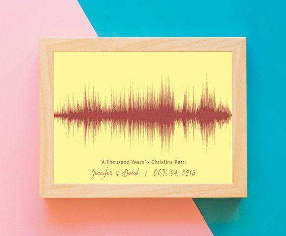 Wedding Song Art Print, Custom Song Sound Wave, First Dance