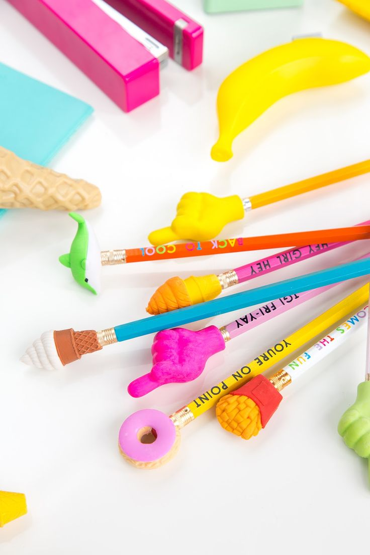 DIY Typography Pencils & Pencil Toppers