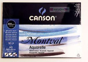 Canson Montval Suluboya Blok Grenli 300 gr. A3 12 Safya