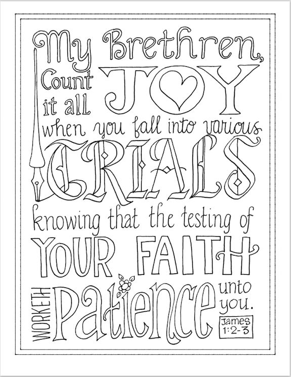 Count Free Coloring Pages Scriptures Cards
