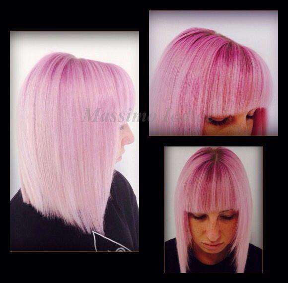 My Work...! #purecolour #davines #haircolour #pink #violet #massimoiodice #caserta #viamarchesiello #capelli #colore #bellezza