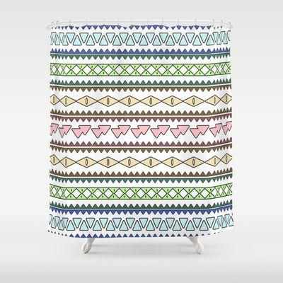 Geometric Pastels Shower Curtain