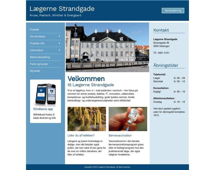 Lægerne Strandgade  Patientportal for lægehus med præsentation og praktisk information.