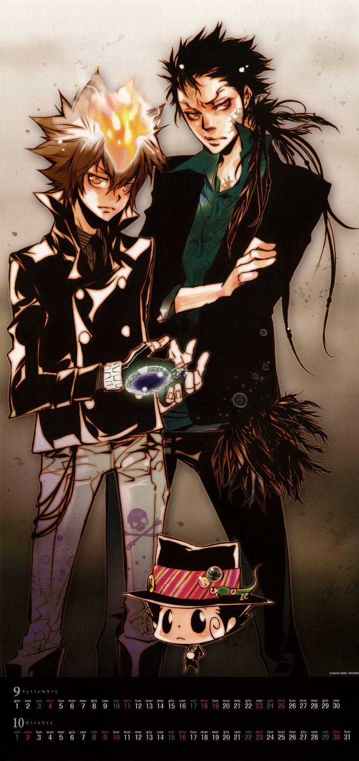 Akira Amano, Katekyo Hitman Reborn!, Reborn (Character), Leon (Katekyo Hitman Reborn!), Tsunayoshi Sawada