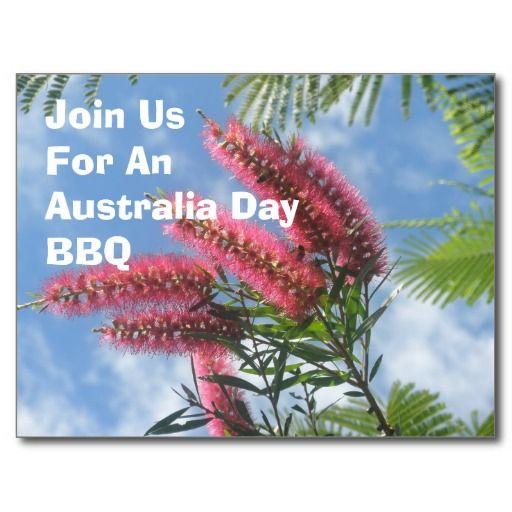 Australia Day BBQ Invitation Postcards