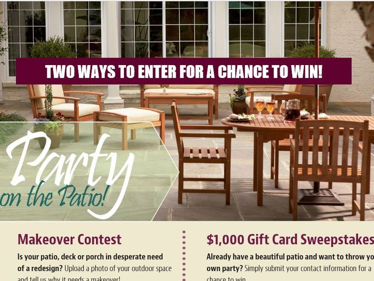 Enter The This Old House U201cParty On The Patiou201d Contest For A Chance To