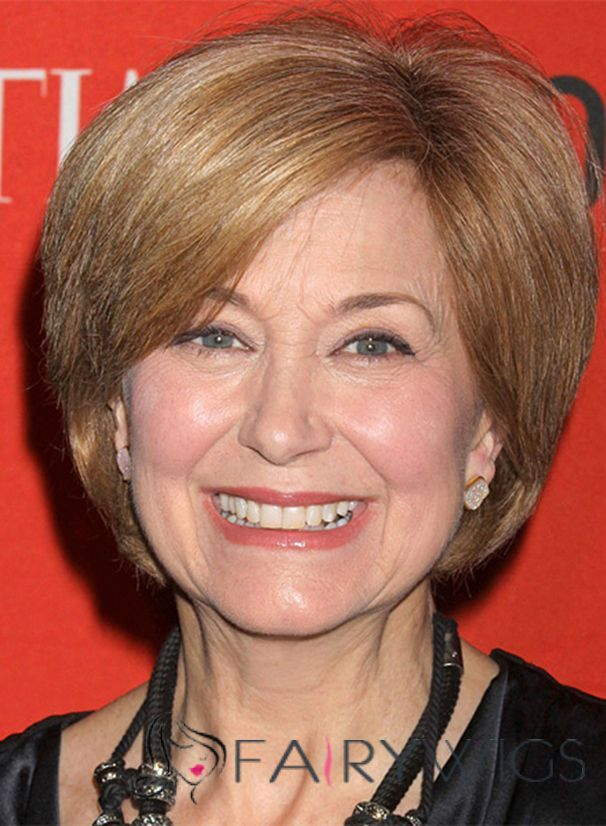 Jane Pauley Hairstyle Short Straight Lace Front Human Hair