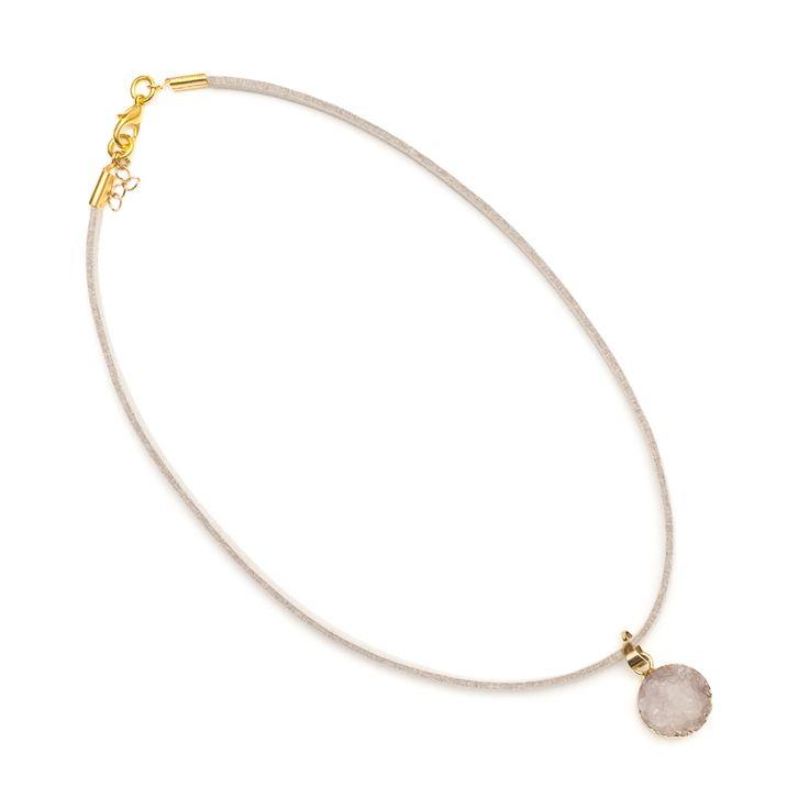 xada jewellery - Willow boho druzy suede choker necklace, $31.95 (http://www.xadajewellery.com/shop-collection/willow-boho-druzy-suede-choker-necklace/)
