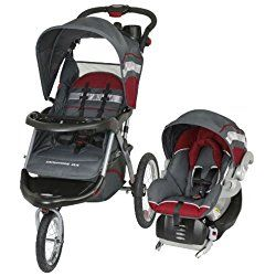 Baby Trend Expedition ELX Jogging Stroller And Car Seat Travel System Grey