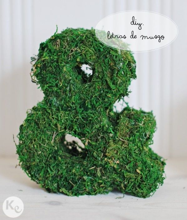 DIY. Moss letters