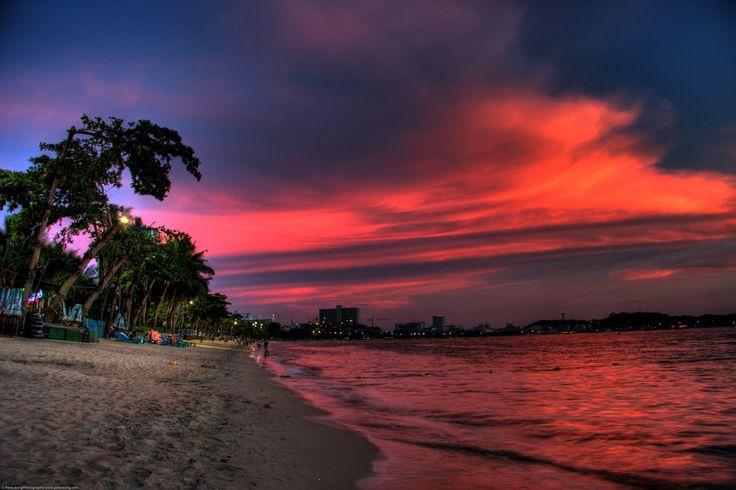 Pattaya beach, sunset