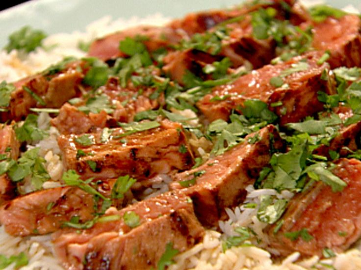Sake Salmon and Rice recipe from Nigella Lawson via Food Network