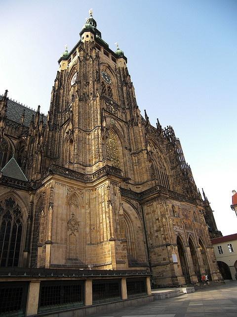 Saint Vitus Cathedral, Prague, Czech Republic (Note: An ...
