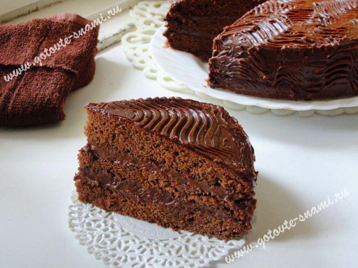 Шоколадный бисквитный торт | Готовьте с нами