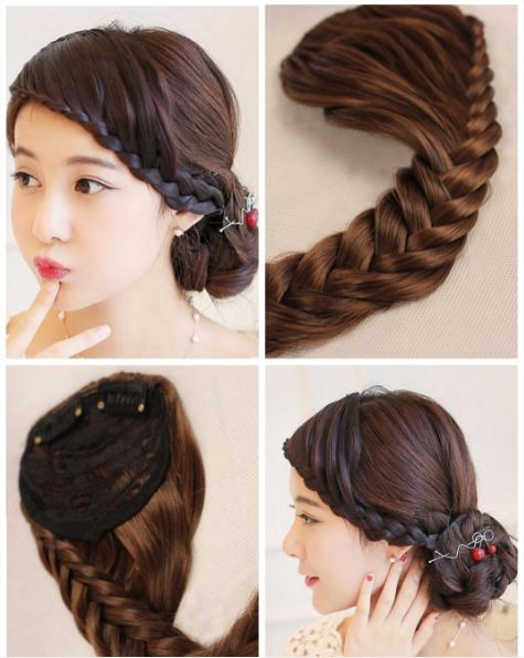 Instead of learning how to braid, buy a hairpiece or headband for the front of…