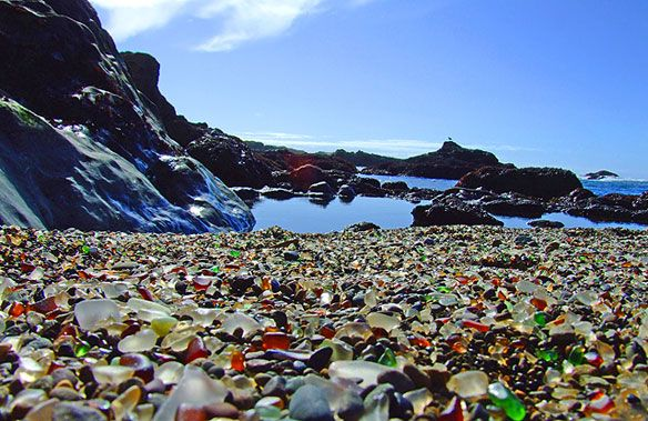 Glass Beach in Fort Bragg, California. I must visit here someday!