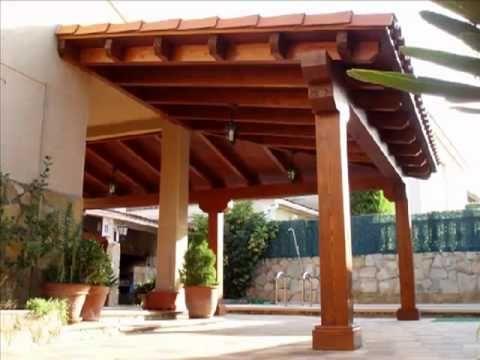 Las p rgolas y porches de madera est n de moda for Disenos de patios traseros