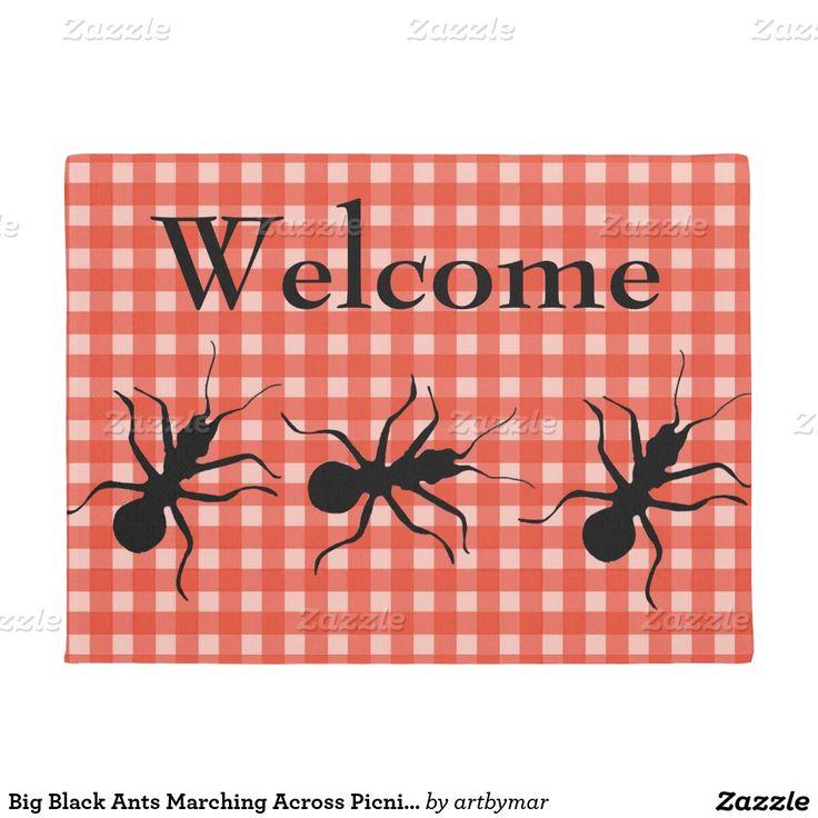 Trend Big Black Ants Marching Across Picnic Tablecloth Doormat