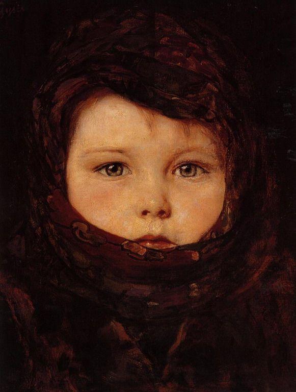 Little Girl by -Nikolaos Gyzis 1842-1901 look at her eyes!