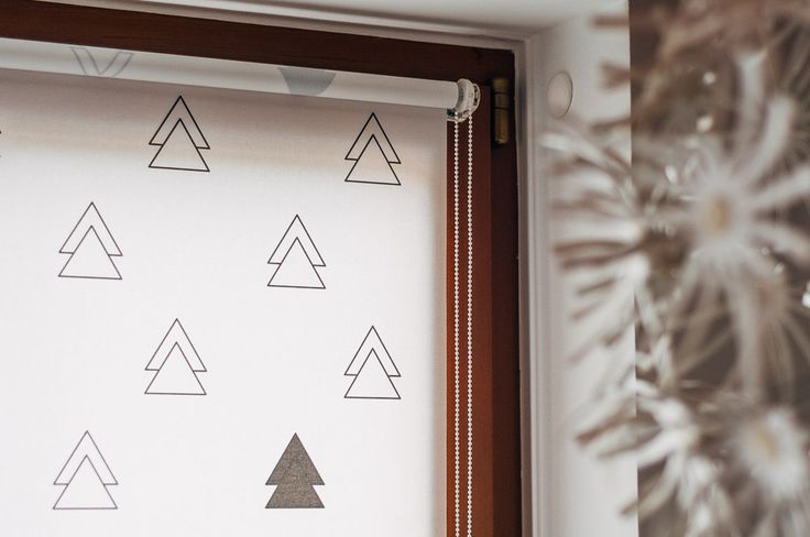 Black TREES mini roller blind by MOTIVO. Simple and beautiful.