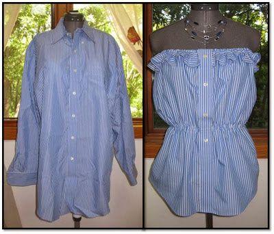 Простые способы создания летних нарядов из старых рубашек - Ярмарка Мастеров - ручная работа, handmade