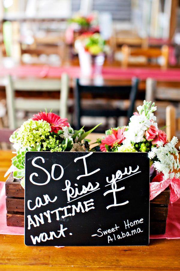 Display love quotes from your favorite movies on your reception tables!